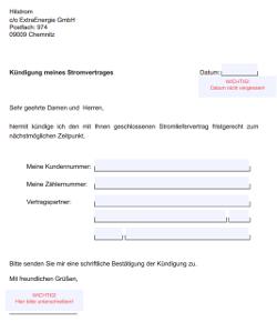 PDF-Muster zur Kündigung von Hitstrom